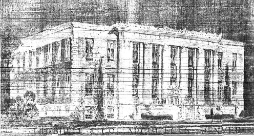 Final courthouse renovation plan Temple Hoyne Buell, architect Never materialized due to loss of 1920s election