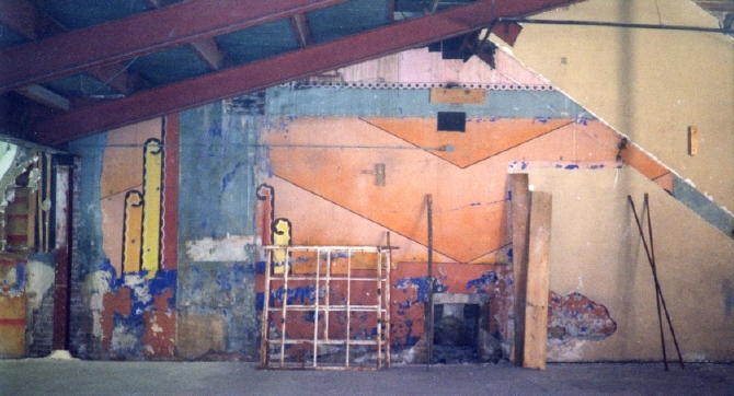 Day glo deco theater walls Photo courtesy Gardner Family Collection