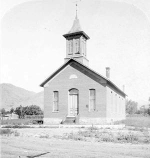 The First Christian Church, original home of the theater (stood 1873-1922) Photo courtesy Denver Public Library, Western History Department