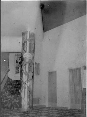 Southern lobby of Golden Theatre and staircase to loge seats Photo courtesy Gardner Family Collection