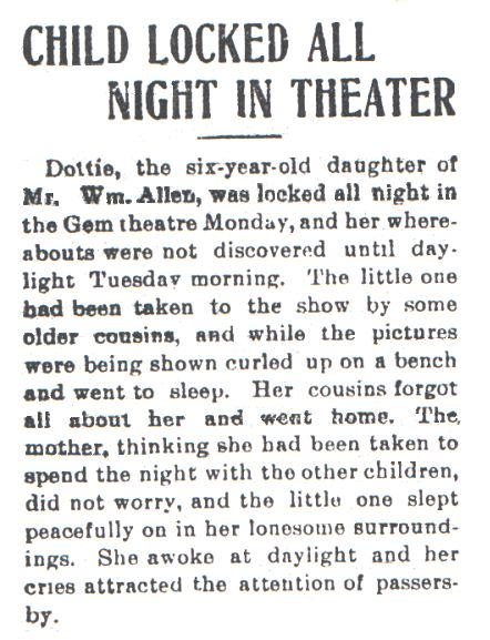 From the front page of the Colorado Transcript, 5/13/1909
